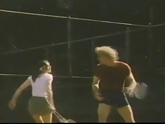 Kay Parker plays a tennis match