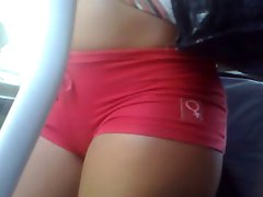 Cameltoe on bus