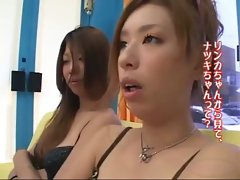2 Asian Girls In Bikinis Kissing Spitting Sucking Tongues On The Mattress In The Shelter