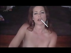 Attractive Lass Smoking 120s and Teasing (JOI)