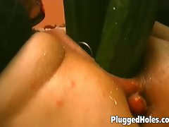 Tempting blonde Cougar screwing some fresh fruits