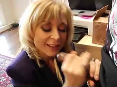 Nina Hartley interracial dick sucking
