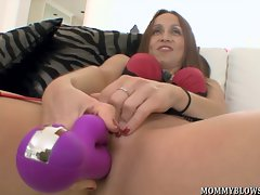 Cheating dirty wife Julia Silver showing off oral skills