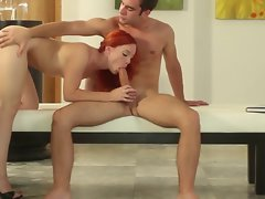 Lovely redhead filled with passion and desire from lover