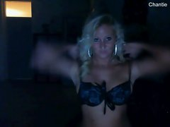 Sensual blondie dutch lady showing hooters on cam 2