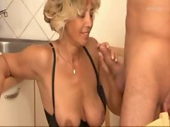 Attractive mature blond rectal fuck