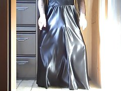 Ebony Satin Dress 01