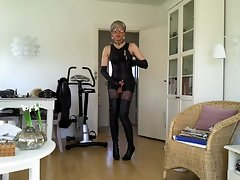 Sissy sexual thigh high boots 1