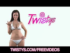 Watch me strip down and tease my pinkish clit on camera