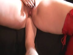 Pumped Vagina Hitachi Wand Orgasm with Foot in Ass!