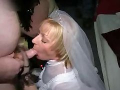 Wedding bukkake