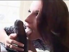 Large dark shaft GETS SOME Narrow WHITE Butt