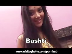 Randy indian English Desi with Mega big melons Gangbang and Facial