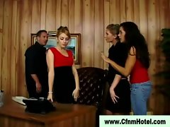 Cfnm femdom vixens face sitting humiliated victim