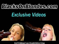Black monster prick in stiff light-haired dampish snatch 19