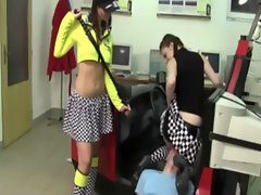 His body now belongs to these nymphos and their desires