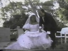 french lassie gets banged while wearing a white wedding dress
