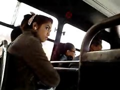 FLASHING SHY Lass WATCHING MY Penis HEAD ON THE BUS