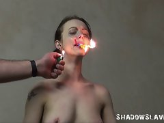 Emily Sharpes Prison Cell Bondage and Attractive Waxing Punishment