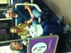 Awesome White Cutie Hooters on Subway
