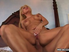 Attractive anus sex with great tempting blonde gal here
