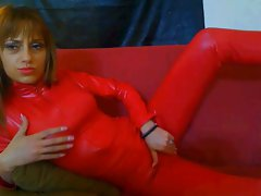 Red catsuit