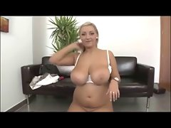Thick Blondie Huge Knockers banged in Office