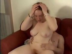 Plump English Amateur Big Tit Redhead Grinded