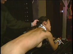 Slim asian with a awesome rack being pleasured by her master