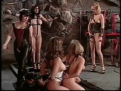 Lezzy ladies in BDSM orgy