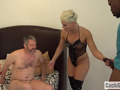 Helena Locke turns her spouse into jizz eating hotwife