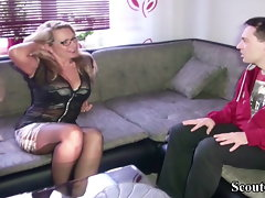 GERMAN Cougar FUCK WITH STRANGER FROM DATINGSITE SCOUT69